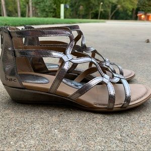 Silver Gladiator Sandals